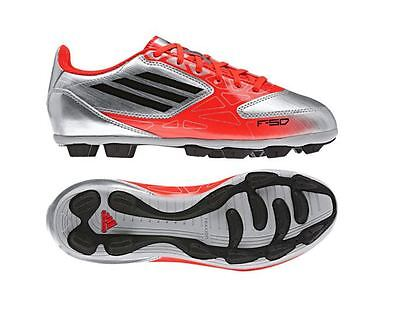143c99879 Adidas F5 TRX HG Silver Red Moulded Studs Boys Kids Football Boots Size 10-6