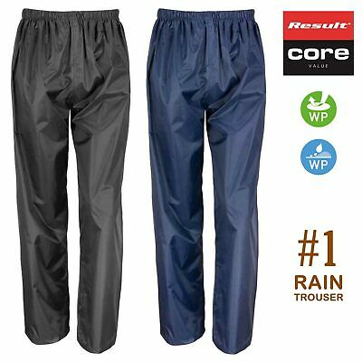 GENUINE RESULT Waterproof Windproof Trousers • Adults Rain Overtrousers • R226X