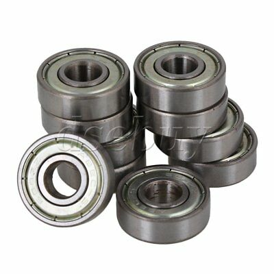 Silver Sealed 608ZZ Deep Groove Roller Ball Bearings 8x22x7mm Pack of 10