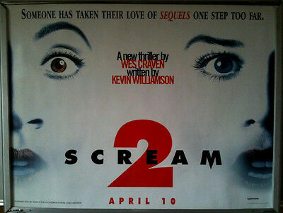 Cinema Poster: SCREAM 2 1997 (Advance Quad) Neve Campbell Courteney Cox