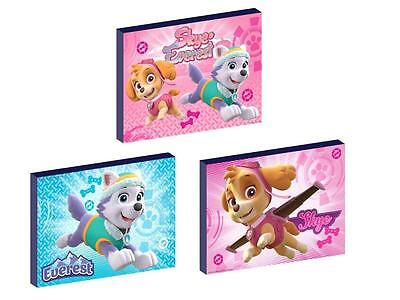 3 x PAW PATROL skye and everest CANVAS ART BLOCKS/ WALL ART PLAQUES/PICTURES