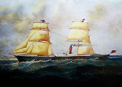25 Wholesale Beautiful Vintage Antique Furnishing Print Clipper Ship 29x21in