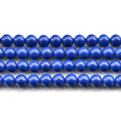 Synthetic Lapis Lazuli Gemstone Round Beads 15.5'' 4mm 6mm 8mm