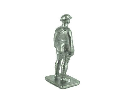 Dinky Army 160d Royal Artillery Figure hands on Side Unpainted White Metal