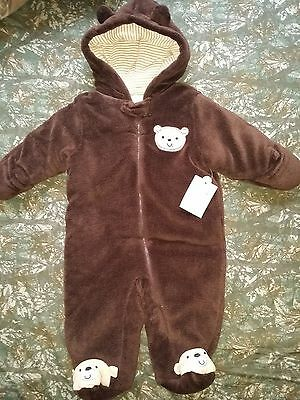 Infant Winter Snow Suit Baby Bunting-- Size 3-6 months