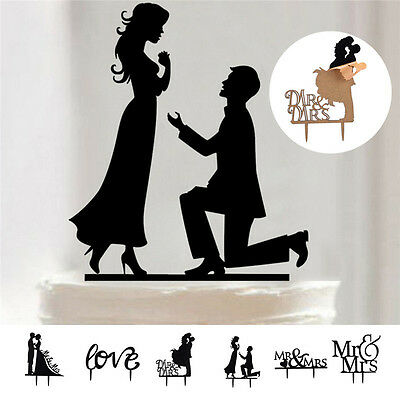 Creative Acrylic Romantic Cake Decoration Topper For Favors Wedding Party Cake