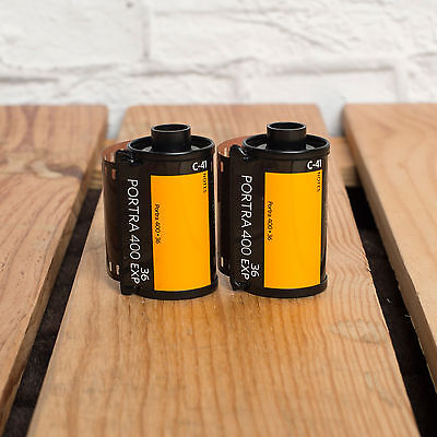 2 x KODAK PORTRA 36 EXPOSURE 35MM FILMS ISO 400 - NEW UK STOCK - TRACKED POST