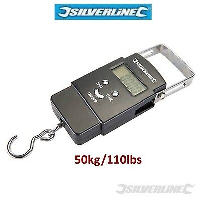 0-50kg Digital Hanging Scale Spring Pocket Size Balance Weight 110Lbs