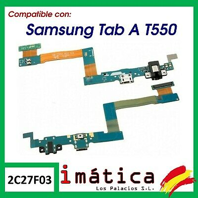 "Cable Flex De Carga Datos Conector Usb Samsung Galaxy Tab A 9.7"" T550 T555 Audio"