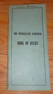 The Pennsylvania Railroad Book of Rules PB Vintage 1951
