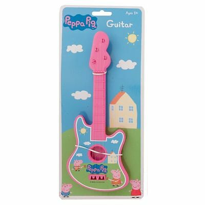 PINK Peppa Pig Children's Toy Play Guitar Musical Instrument
