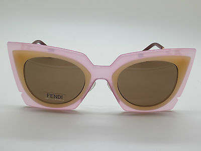 0c00851faa NEW FENDI FF 0117 S LAQUT Orchidea Pink Peach Cat-Eye 49mm Sunglasses