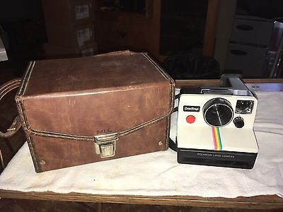 Vintage Polaroid Land Camera One Step With Case