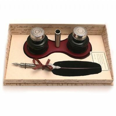 Calligraphy Set Feather Quill & Ink Holder Set, Great Gift