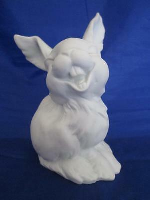 Kaiser West Germany White Bisque Porcelain Happy Bunny Rabbit Figurine