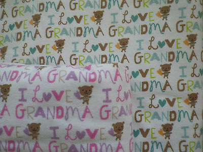 "Handmade 36x42 ""I Love Grandma"" receiving/swaddling blankets for boys or girls"