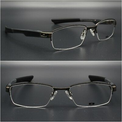 a85743eceb67d OAKLEY Double Eyeglasses Men Half Rimless frame Tap OX3123 02 53mm New  Authentic
