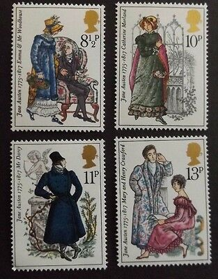 GB MNH STAMP SET 1975 Jane Austen SG 989-992 10% OFF FOR ANY 5+