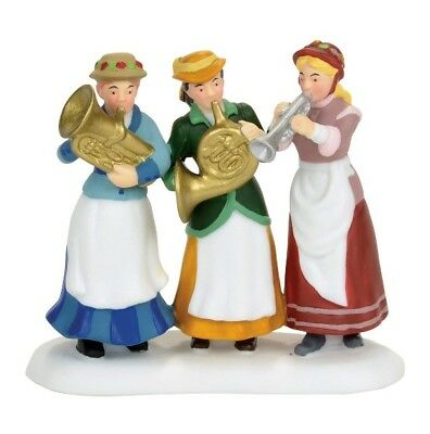 Dept 56 Dickens Village Ladies Auxiliary Brass Band #4056643 NEW 2017 Free Ship