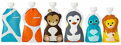 Squooshi Reusable Pouches Variety Pack - 6 Pouches