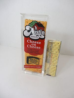 Austin Cheese Cracker Display Advertising Huge Plastic Crackers Rare Find