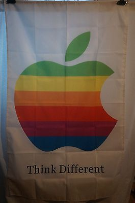APPLE Think Different Vintage Colored Banner Man Cave Computers Mac 3X5 Feet
