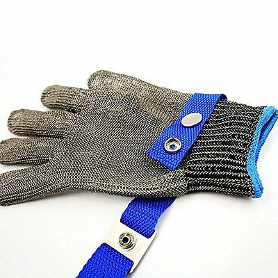 Safety Cut Proof Stab Resistant Stainless Steel Metal Mesh Butcher Glove Size XL