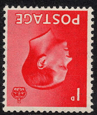1936 Edward VIII 1d Definitive Inverted Watermark SG458Wi Unmounted Mint