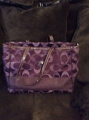 Coach Large Signature Baby Bag Diaper Overnight Travel Purse Tote