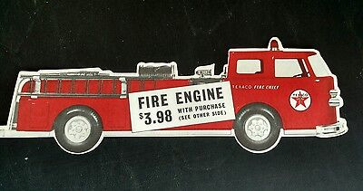 Texaco Toy Fire Engine Truck Gas Oil advertising 1962 original NOS