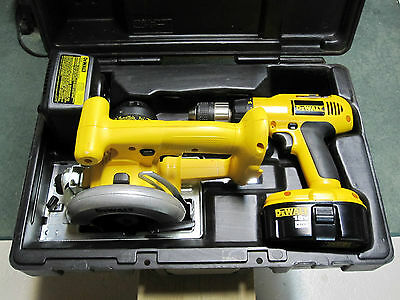 "DeWalt 18v Trim Saw DW936, 1/2"" Drill DW995, Charger DW9108 Combo Kit w/ Case"