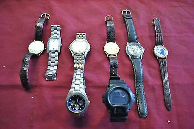 Lot of 8 Mens Wrist Watches
