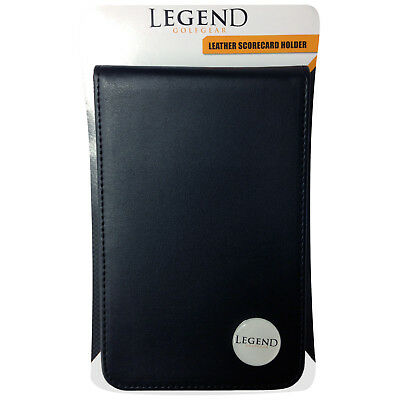 Legend Golf Gear Leather Deluxe Score Card Holder New Scorecard Case Book Badge