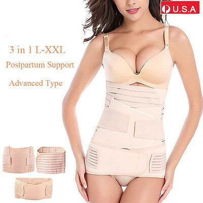 3 in 1 Postpartum Support-Recovery Belly/waist/pelvis Belt Shapewear Waist L-XXL