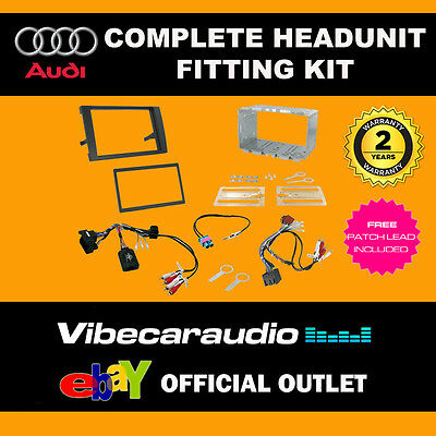 Connects2 CTKAU04 Audi A4 2007 Double Din Radio Installation Kit