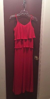 Vintage 1970S Red Strapless Maxi Dress Women Today Size 6