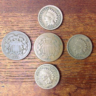 Grandpappys Old Type Coin Coin Lot Cool Mix Of US Type Coins Mixed Circ Coin Lot