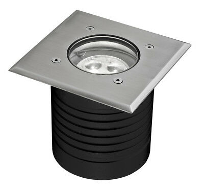 NEW MODULA 9W Square Stainless Steel LED Inground Light