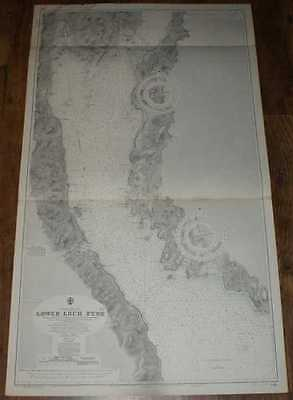 Nautical Chart No. 2381, Scotland - West Coast, Lower Loch Fyne  1:25,000 1967