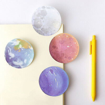 1Pc Planet Memo Pad Notebook Sticky Note Portable School Stationary Best LWC