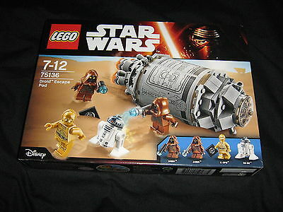 Lego Star Wars 75136 Droid Escape Pod Factory Sealed Retired Set