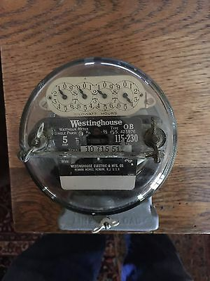 Vintage 1930s Westinghouse Type OB Electric Meter