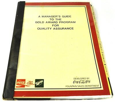 Coca-Cola Coke USA Mappe - Manager's Guide to the Gold Award Program