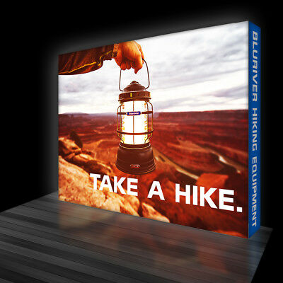 RADIANT 10ft Light Box Backdrop LED Backlit Trade Show Wall Pop Up Display Booth