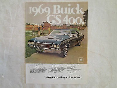 1969 Buick GS400 Original Magazine Ad from October 1968