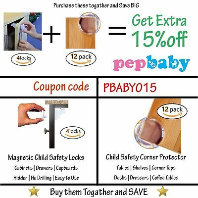 Baby Proofing Corner Protector Guards [12 Pack] Child Safety Edge Cushion Corn