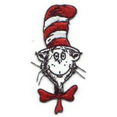 Dr. Seuss' The Cat In The Hat Animated TV Show Head and Hat Patch, NEW UNUSED