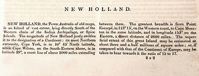 Scarce 187 Year Old Account of Exploration of Australia (New Holland) 6 pg