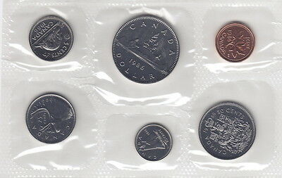 1987 Canada Proof-Like Coin Set By Royal Canadian Mint