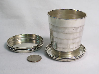 1950's Vintage Gorham A9610 Collapsible Sterling Silver Travel Cup w/ Lid 114.6